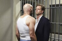 """SUITS -- """"Blowback"""" Episode 511 -- Pictured: Patrick J. Adams as Michael Ross -- (Photo by: Shane Mahood/USA Network)"""
