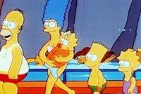 Noch voller Leibesfülle geht Homer mit der Familie in einen Vergnügungspark, wo ihn gleich in einer Wasserrutsche das Schicksal ereilen wird.