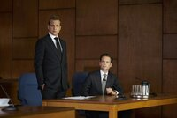 """SUITS -- """"Live to Fight..."""" Episode 512 -- Pictured: (l-r) Gabriel Macht as Harvey Specter, Patrick J. Adams as Michael Ross -- (Photo by: Shane Mahood/USA Network)"""