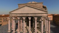 3D animation of the Pantheon - exploded.