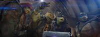 Noch immer fristen (v.l.n.r.) Raphael, Michelangelo, Donatello und Leonardo ihr Dasein in der New Yorker Kanalisation und kommen nachts an die Oberfläche. Doch dann wartet eine Überraschung auf sie ...