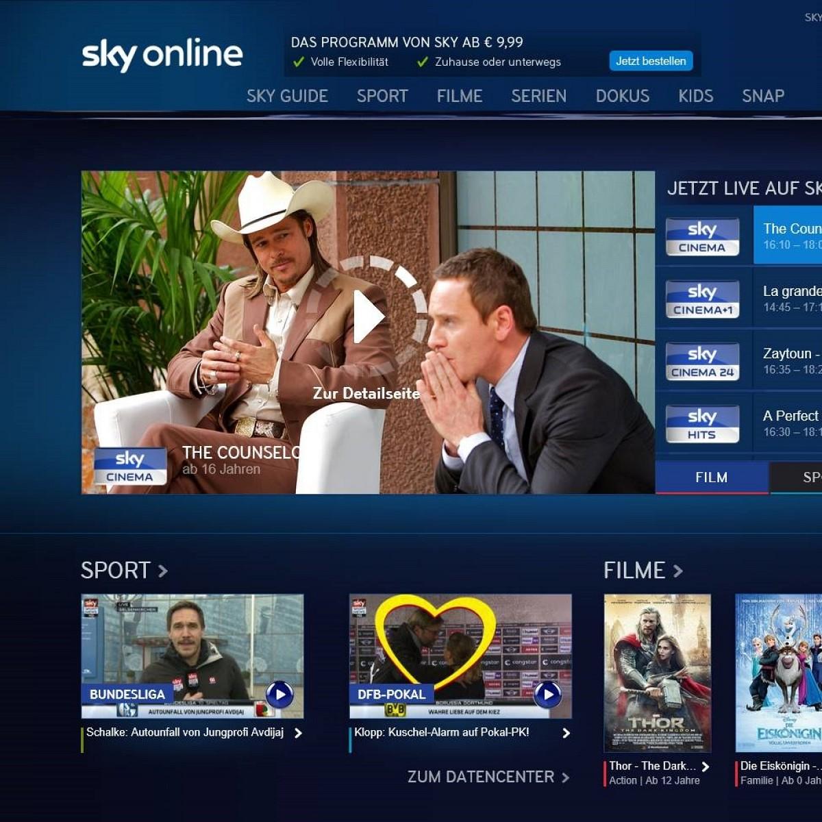 Sky Online Serien