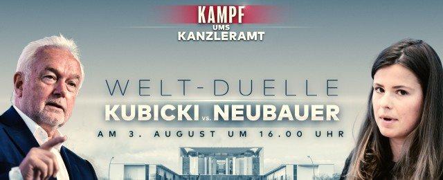 Kubicki trifft auf Neubauer, Merz auf Özdemir