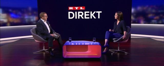 """""""RTL Direkt"""" mit Jan Hofer: """"Machen wir alle das Beste daraus."""""""