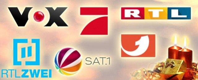 Das Festtagsprogramm der großen Privatsender im Überblick
