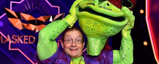 Enttarnter Frosch im Interview nach der Show