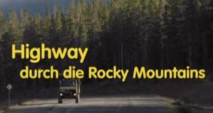 Highway durch die Rocky Mountains