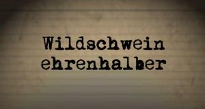 Wildschwein ehrenhalber