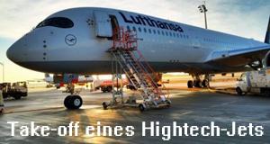 Take-off eines Hightech-Jets