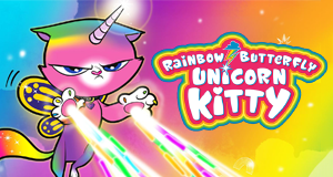 Regenbogen Schmetterling Einhorn Kitty