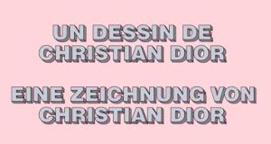 Eine Zeichnung von Christian Dior